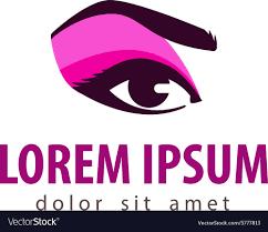 makeup logo design template cosmetic royalty free vector