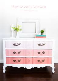 painting furniture whiteHow to Paint Furniture and Ombre Dresser  I Heart Nap Time