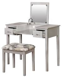 silver vanity table with mirror and bench. makeup dresser with mirror | vanity sets at walmart table silver and bench