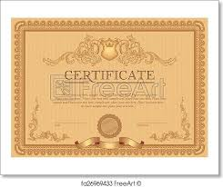 Certificate Border Template Free Mesmerizing Free Art Print Of Certificate Or Coupon Template Certificate Or