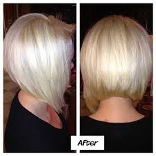 nice platinum stacked bob hairstyle for 2017