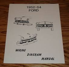 1952 1953 1954 ford car wiring diagram manual 52 53 54 image is loading 1952 1953 1954 ford car wiring diagram manual