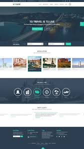 Free Travel Website Template Psd Graphic Design Pinterest