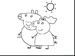 Printable Peppa Pig Coloring Pages Pig Color Pages Printable Pig