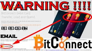 bitconnect debit card lie official mastercard visa statements