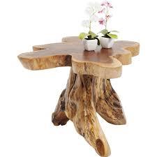 tree stump made of solid teak wood