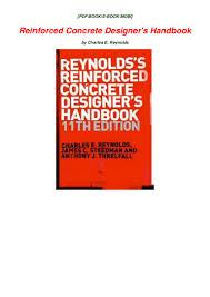 Reynolds Reinforced Concrete Designer S Handbook 11th Edition Pdf Download Pdf Online Reinforced Concrete Designers Handbook