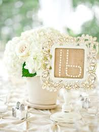 wedding table number frame white frame with burlap table numbers photo source o it wedding table
