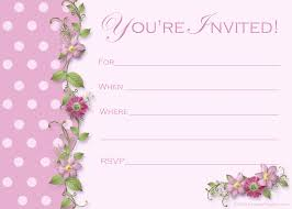 printable birthday invitations for 12 year old girls so pretty image for blank birthday invitations templates