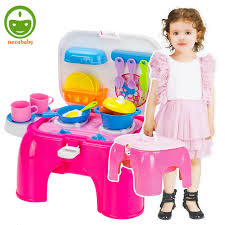 Big kitchen toys for girls pretend play child girl toy sets kids cooking tableware learning TY80