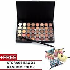 professional 40 colour matte long lasting beauty eyeshadow palette free bag