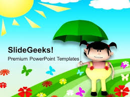 Summer Powerpoint Templates Enjoying The Summer Vacations In Playground Powerpoint