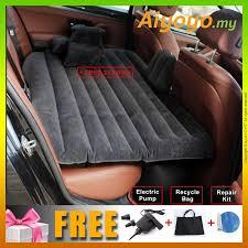inflatable car bed car air mattress for backseat 2 pillows air pump universal outdoor camping seat