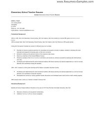 Resume For Teacher Job Application. In School Template. Format for Resume  Format For School