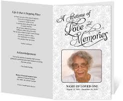 Lifetime Funeral Program Template Creative Memorials With Funeral