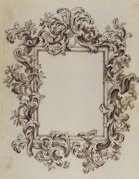 vintage mirror drawing. Drawn Mirror Rococo #13 Vintage Drawing