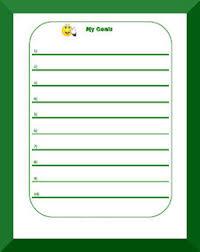 Goal Charts For Work Goal Setting Behavior Charts