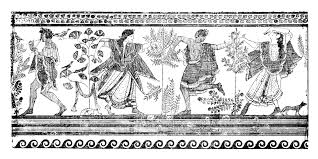 etruscan dancing from the grotta del triclinio corneto