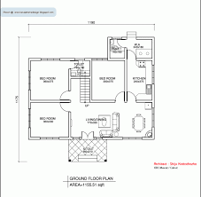 kerala style single floor house plan 1155 sq ft home appliance plans with