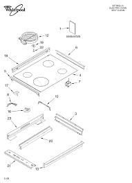 whirlpool ygylxpb slide in range electric timer stove ygy398lxpb00 slide in range electric cooktop parts diagram