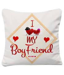sky trends i love my boyfriend printed cushion er best gift boyfriend for valentine at best snapdeal