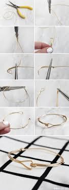 diy traingle wire bracelet