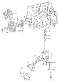 Engine volkswagen go 1995 oil pump 1 6 2 0 litres aek aam abs