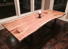 cool dining room tables. American White Oak Dining Table Unique Custom Live Edge Room And Bench Cool Tables