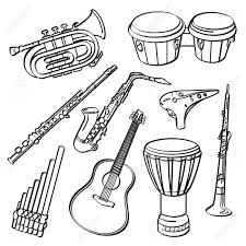 Dessin Imprimer Un Tambourin Dessin Colorier Instrument De Musique