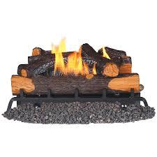 remington 24 in 32000 btu dual burner vent free gas fireplace logs