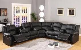 black leather reclining sofa. Fine Reclining Image Is Loading McferranSF3591BlackLeatherRecliningSofa SectionalDrop With Black Leather Reclining Sofa C