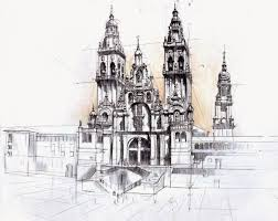 architectural drawings of buildings. 14-Gothic-Cathedral-Łukasz-Gać-DOMIN-Poznan-Architectural- Architectural Drawings Of Buildings U