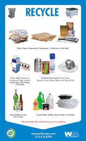 Things To Recycle About Our Services City Of Emeryville