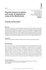 Pdf Populist Rhetoric In Politics And Media A Longitudinal