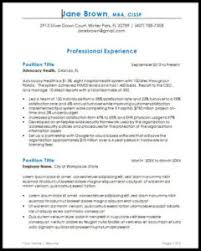 Executive Resume Templates For 2018 Kirby Partners