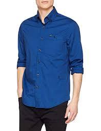 G Star Mens Core Button Down One Pocket Long Sleeve Slim Shirt