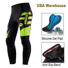 Ebay Asian Size Chart Details About Mens Bike Pants Padded Cycling Lycra Trousers Stretchy Tights Cyclist Clothing