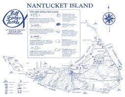 Nantucket Fishing 2017 Calendar Map And Guide