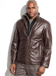 brown leather er jackets marc new york shelby leather faux fur collar jacket
