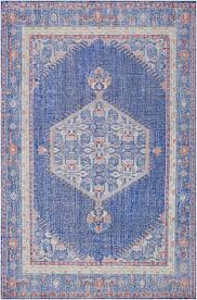 mirabelle cobalt blue medallion fl rug