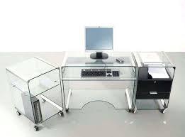 glass office desk furniture glass office desk ideas using transpa glass secretary desk with wheels magnificent