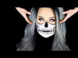 half skull makeup tutorial floating head