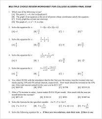 college algebra practice free