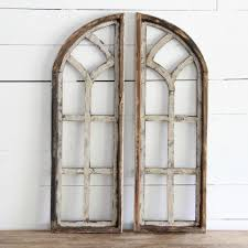 wooden window frame. Brilliant Frame Arched Wooden Window Frame Set Of 2 In Frame F