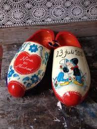 Wooden Shoe | <b>Large</b> Vintage Wooden Shoe | Carved <b>Handpainted</b> ...