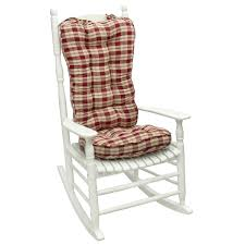 ruby plaid jumbo rocking chair cushion sets for chic furniture accessories ideas