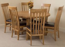 oval kitchen table set. Edmonton Solid Oak Extending Oval Dining Table With 6 Harvard Chairs [Light Kitchen Set