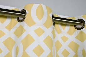 trellis yellow color grommet panel close up