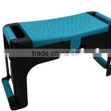 plastic garden kneeler seat with tool storage and knee pad