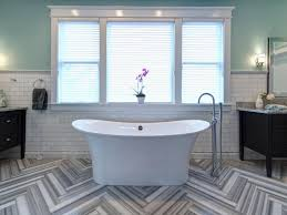 Herringbone Kitchen Floor 9 Bold Bathroom Tile Designs Hgtvs Decorating Design Blog Hgtv